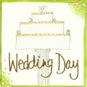 Glitter Finished Wedding Day Greeting Card